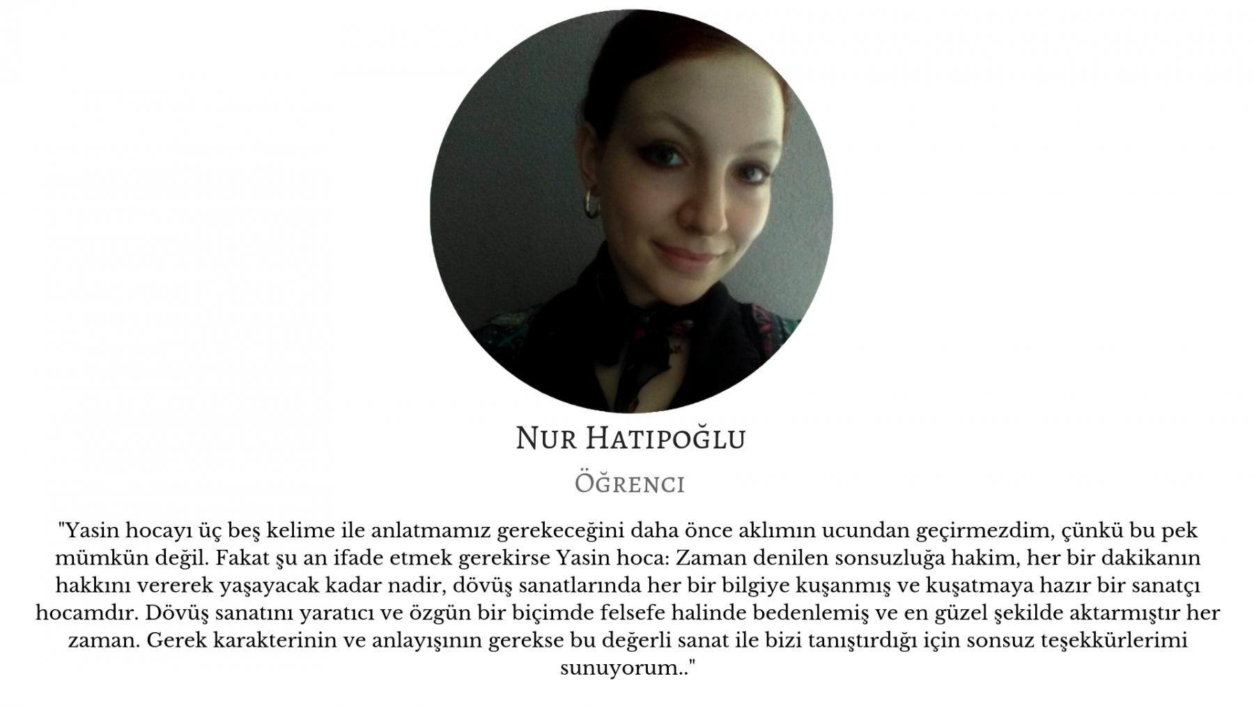 Nur Hatipoğlu - Öğrenci yasin ozkan mma bjj izmir jiujitsu muay thai fitness pt